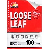 PAPERLINE Loose Leaf B5 Ppl Ll 100Lb 257.5 x 182mm - Loose Leaf