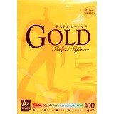PAPERLINE Photo Copy Paper 100 A4 - Gold - Kertas Foto Copy / Multi Purpose Paper