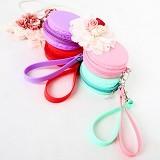 PAROPAROSHOP Pastel Macaroon Pouch - Soft Pink - Sarung Handphone / Pouch