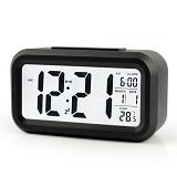 PEACHES OLSHOP Digital Alarm Clock With LED - Black (Merchant) - Jam Meja