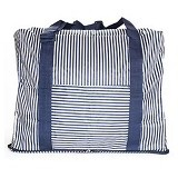 PEACHES OLSHOP Stripes Travel Bag - Blue (Merchant) - Travel Bag