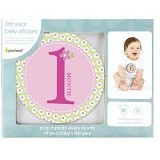 PEARHEAD Baby First Year Milestone Stickers - Pink (Merchant) - Nursery Furniture & Decor