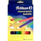 PELIKAN Pensil Warna 36 + Sharpener (Merchant) - Pensil Warna