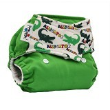 PEMPEM Velcro + Inser Litty Motif Aligator - Cloth Diapers / Popok Kain