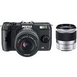 PENTAX Mirrorless Digital Camera Q7 (Double Kit) - Black - Camera Mirrorless
