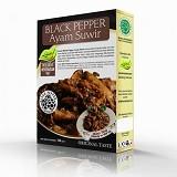 PESONA NUSANTARA Black Pepper Ayam Suwir Laziz 150 gr [CGK020037005281] (Merchant) - Box & Kalengan Unggas