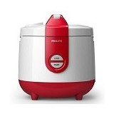 PHILIPS Rice Cooker [HD 3118/32] - Basic Red - Rice Cooker