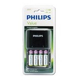 PHILIPS Value Charger With 4x AA 2000mAh (Merchant) - Battery and Rechargeable