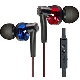 PHRODI Earphone with Microphone [POD-600] - Black/Blue - Earphone Ear Monitor / Iem