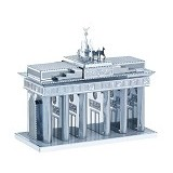 PICTURE KINGDOM Metal Puzzle 3D Brandenburg Gate - Silver (Merchant) - 3d Puzzle
