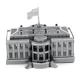 PICTURE KINGDOM Metal Puzzle 3D White House (Merchant) - 3d Puzzle