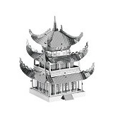 PICTURE KINGDOM Metal Puzzle 3D Yue Yang Tower - Silver (Merchant) - 3d Puzzle
