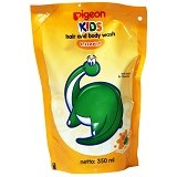 PIGEON Kids Wash 350ml Liquid Orange Manggo Refill [PR070106] - Sabun Mandi Bayi dan Anak