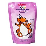 PIGEON Kids Wash 350ml Liquid Strawberry Grape Refill [PR070105] - Sabun Mandi Bayi dan Anak