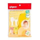 PIGEON Self Weaning Spoon & Fork [PR050319] - Celemek Bayi / Bib