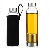 PIXEL99 Infuser Bottle 420ml - Black - Botol Minum