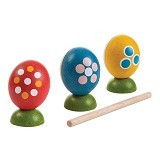 PLAN TOYS Egg Percussion Set [PT5602] - Mainan Musikal