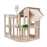PLAN TOYS Green Dollhouse [PT7155] - Mainan Simulasi