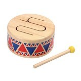 PLAN TOYS Solid Drum [PT6404] - Mainan Musikal
