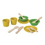 PLAN TOYS Tableware Set [PT3605] - Mainan Masak Masakan / Kitchen Toys