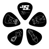 PLANET WAVES Medium [1CBK4-10JS] - Black - Gitar Pick