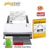 PLUSTEK SmartOffice [PS396] + Software Scan Faktur Pajak - Scanner Automatic Feeding / ADF