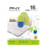 PNY Bubble USB 2.0 Flash Disk 16GB - USB Flash Disk Basic 2.0
