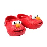 POLLIWALKS Clogs Elmo Size 12 [BZ-716] - Red - Sepatu Anak