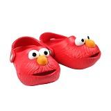POLLIWALKS Clogs Elmo Size 4 [BZ-716] - Red - Sepatu Anak