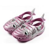 POLLIWALKS Clogs Shark Size 7 [BZ-723] - Raspberry - Sepatu Anak