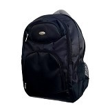 POLO Negro Backpack with Laptop Slot + Rain Cover - Black (Merchant) - Notebook Backpack