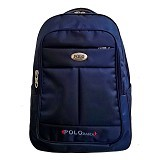 POLO Rasta Backpack with Laptop Slot + Rain Cover - Navy (Merchant) - Notebook Backpack