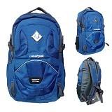 POLO Tas Ransel Laptop Sporty - Biru (Merchant) - Notebook Backpack