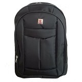 POLO USA Bulldog Backpack with Laptop Slot + Rain Cover - Black (Merchant) - Notebook Backpack