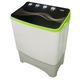 POLYTRON Mesin Cuci Twin Tub [PWM 1070] - Green - Mesin Cuci Twin Tub