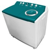 POLYTRON Mesin Cuci Twin Tub [PWM 1401] - Green - Mesin Cuci Twin Tub