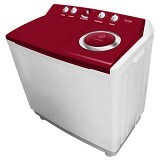 POLYTRON Mesin Cuci Twin Tub [PWM 1401] - Red - Mesin Cuci Twin Tub