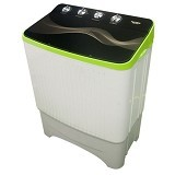POLYTRON Mesin Cuci Twin Tub [PWM 8070] - Green - Mesin Cuci Twin Tub