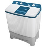 POLYTRON Mesin Cuci Twin Tub [PWM 8567WB] - White Blue - Mesin Cuci Twin Tub