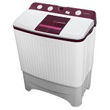 POLYTRON Mesin Cuci Twin Tub [PWM 8567WR] - White Red - Mesin Cuci Twin Tub