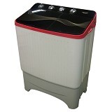 POLYTRON Mesin Cuci Twin Tub [PWM 9070] - Red - Mesin Cuci Twin Tub