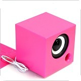 POMME Cube Colorful Speaker [56-740992] - Pink - Speaker Portable