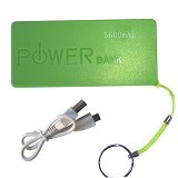 POWERBANK Color 5600mAh - Hijau - Portable Charger / Power Bank