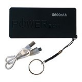 POWERBANK Color 5600mAh - Hitam - Portable Charger / Power Bank