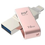PQI iConnect Mini Lightning Apple USB 3.0 16GB - Rose Gold (Merchant) - Usb Flash Disk Dual Drive / Otg