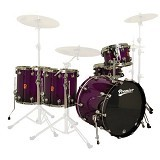 PREMIER Maple Shell Drum Kit GENISTA Series [FULL KIT] - Purple Fade Sparkle Laquer - Drum Kit