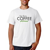 PRINT N WEAR But First, Coffee Size M - Kaos Pria
