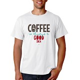 PRINT N WEAR Coffee Is Always A Good Idea Size M - Kaos Pria