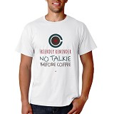 PRINT N WEAR No Talkie Before Coffee Size M - Kaos Pria