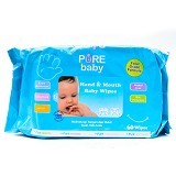 PURE BABY Hand & Mouth Wipes Aloe Vera 60